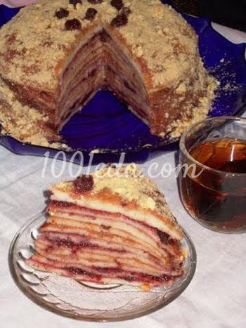 Блинный торт с вареньем