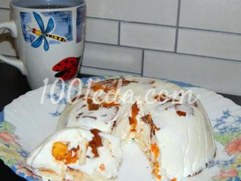 Желейный торт с хурмой
