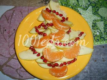 Фруктовая ёлочка: рецепт с пошаговым фото