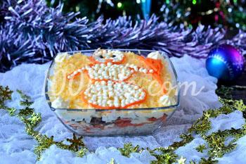 Слоеный салат с морковью по-корейски: рецепт с пошаговым фото