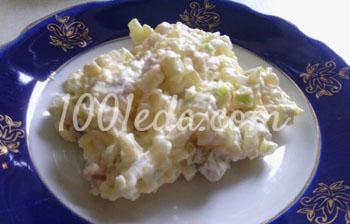 Салат с яблоками и сельдью