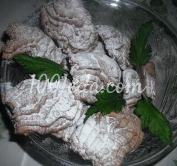 Рождественское печенье Хризантемы в снегу