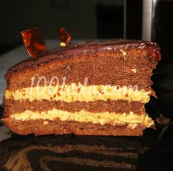 Торт Прага с карамельно-грильяжным кремом