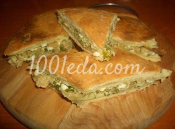 Пресный пирог с капустой: рецепт с пошаговым фото