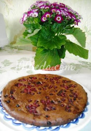 Творожно-шоколадный пирог Микс с красной смородиной: рецепт с пошаговым фото